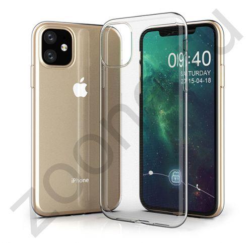 Чехол для iPhone 11 силиконовый прозрачный