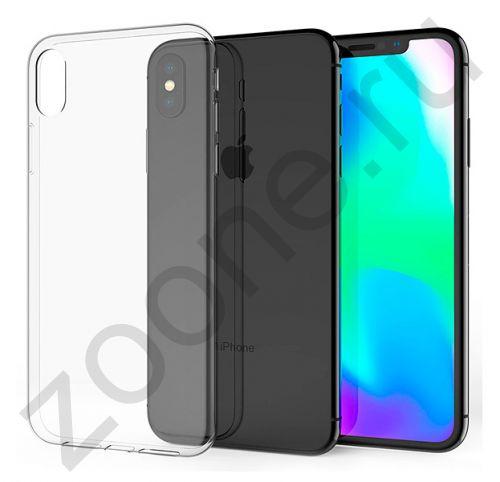 Прозрачный силиконовый чехол для iPhone XS Max