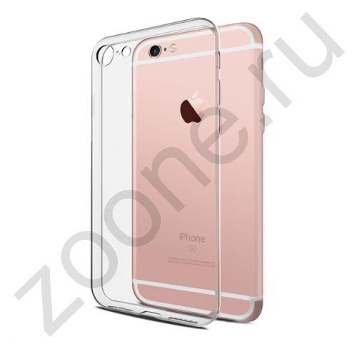 Прозрачный силиконовый чехол для iPhone 6/6S Transparent Brauffen Case