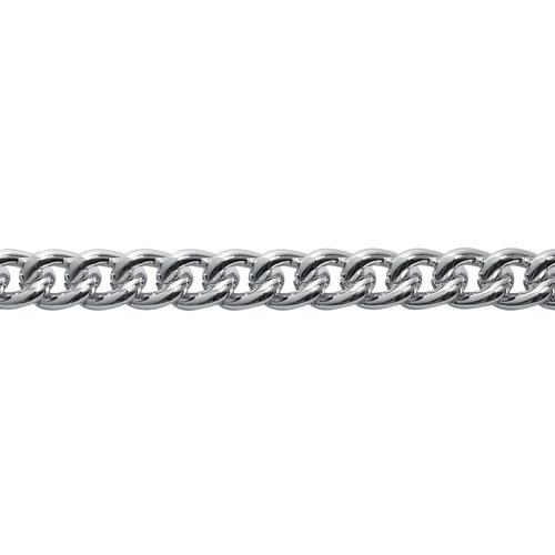 Цепь алюминиевая 13х9,8мм 10м никель