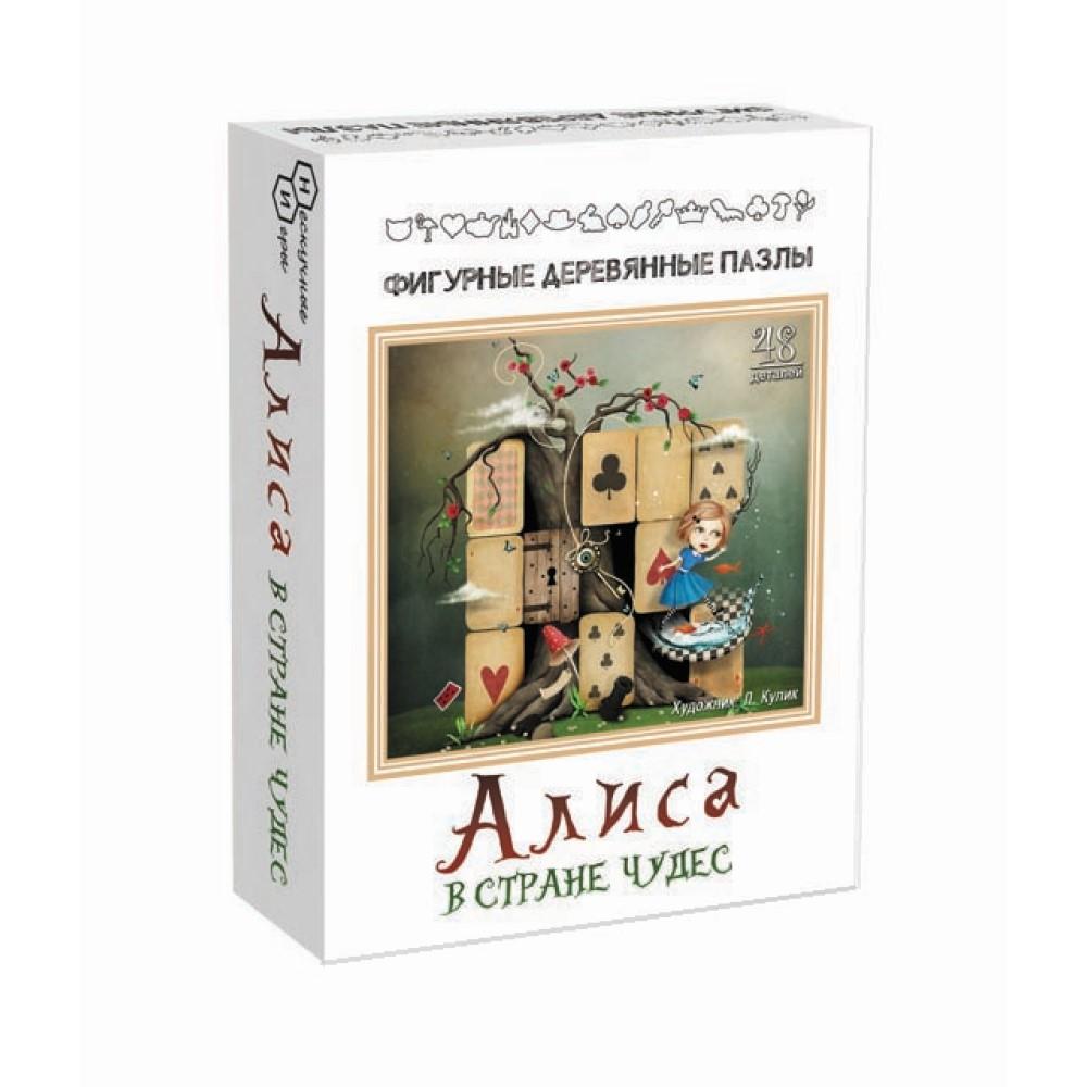 """Фигурный деревянный пазл """"Алиса в стране чудес"""" (арт.8172)"""