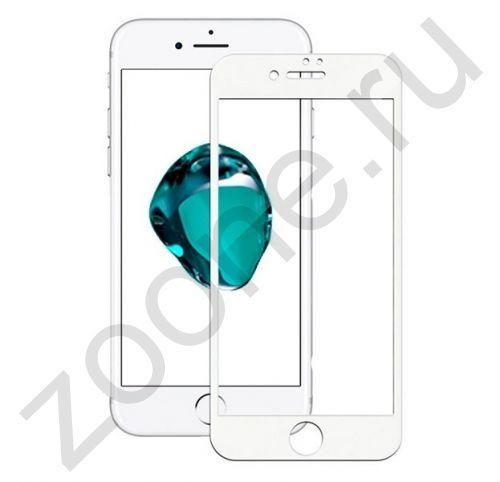 Белое защитное стекло для iPhone 6/6S Artoriz Full Cover 2,5D Tempered Glass