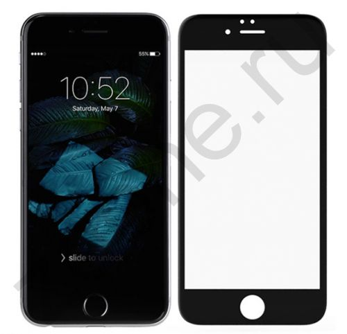 Черное защитное стекло для iPhone 6/6S Plus Artoriz Full Cover 2,5D Tempered Glass