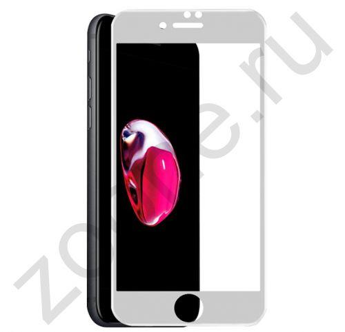 Белое защитное стекло для iPhone 7/8 Plus Full Frame Pero 3D Glass
