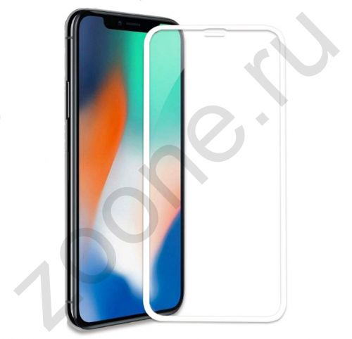 Белое защитное стекло для iPhone X/XS Remax Emperor Series 2,5D Tempered Glass
