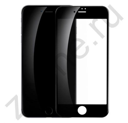 Черное защитное стекло для iPhone 7/8 Full Frame Litu 3D Arc Edge Glass