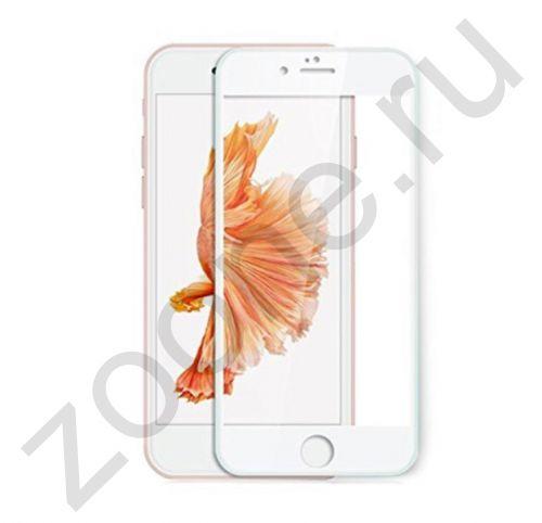 Защитное глянцевое стекло для iPhone 7/8 Devia Jade Full Screen White