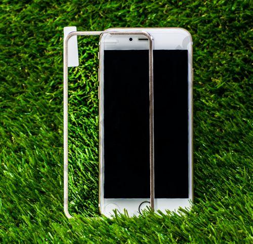 Защитное стекло с золотистой алюминиевой рамкой для iPhone 6/6s Full Frame
