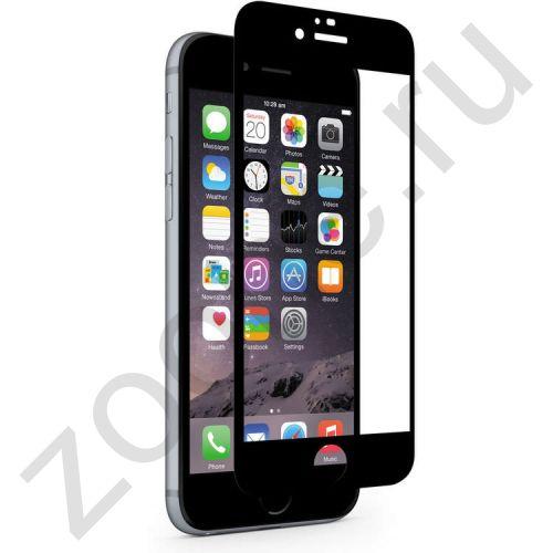 Защитное стекло с черной алюминиевой рамкой для iPhone 6
