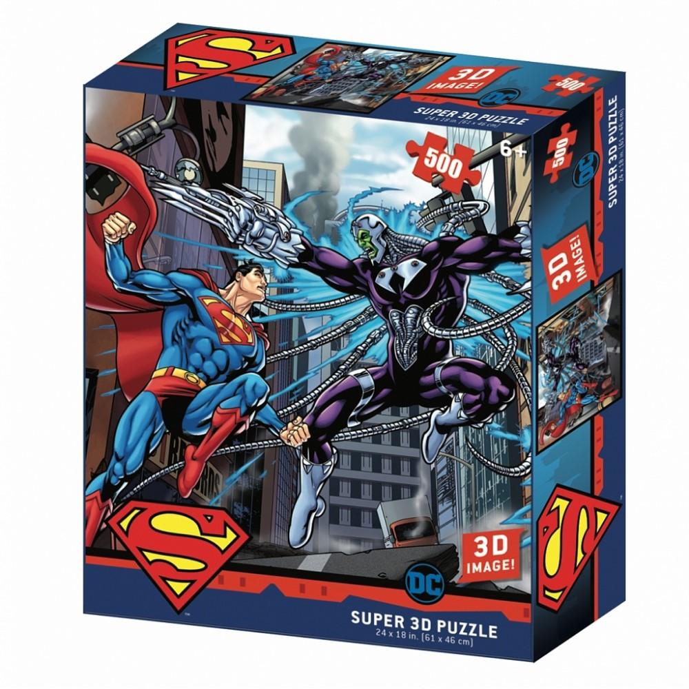 """Пазл Super 3D """"Супермен против Брейниака"""" (арт.32522)"""