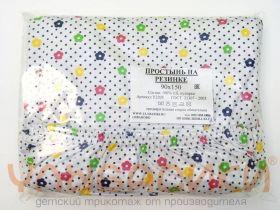 ММ Простынь трикотаж. на резинке (с рисунком) (для матраса 120х60)