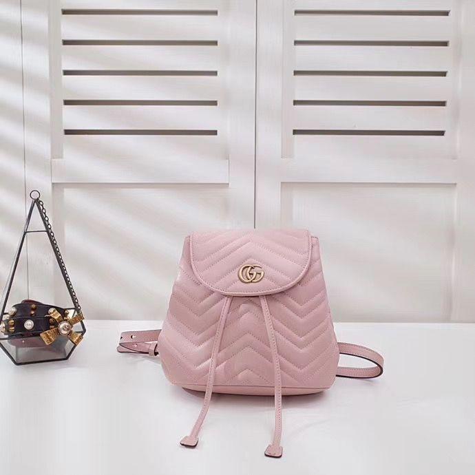 Стёганный мини рюкзак Gucci Marmont GG 21 cm