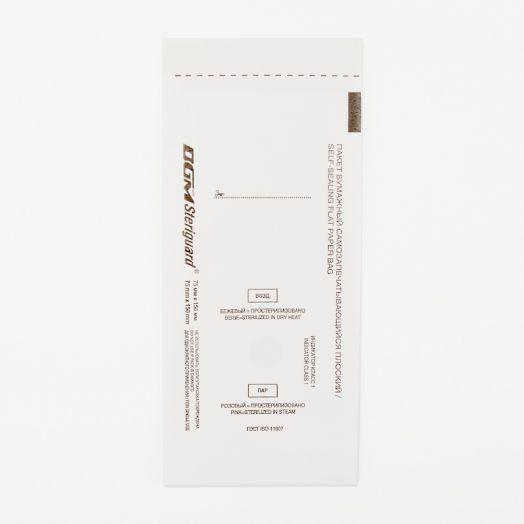 Крафт пакеты dgm steriguard 75x150 белые из крафт-бумаги 75х150 100 шт белые