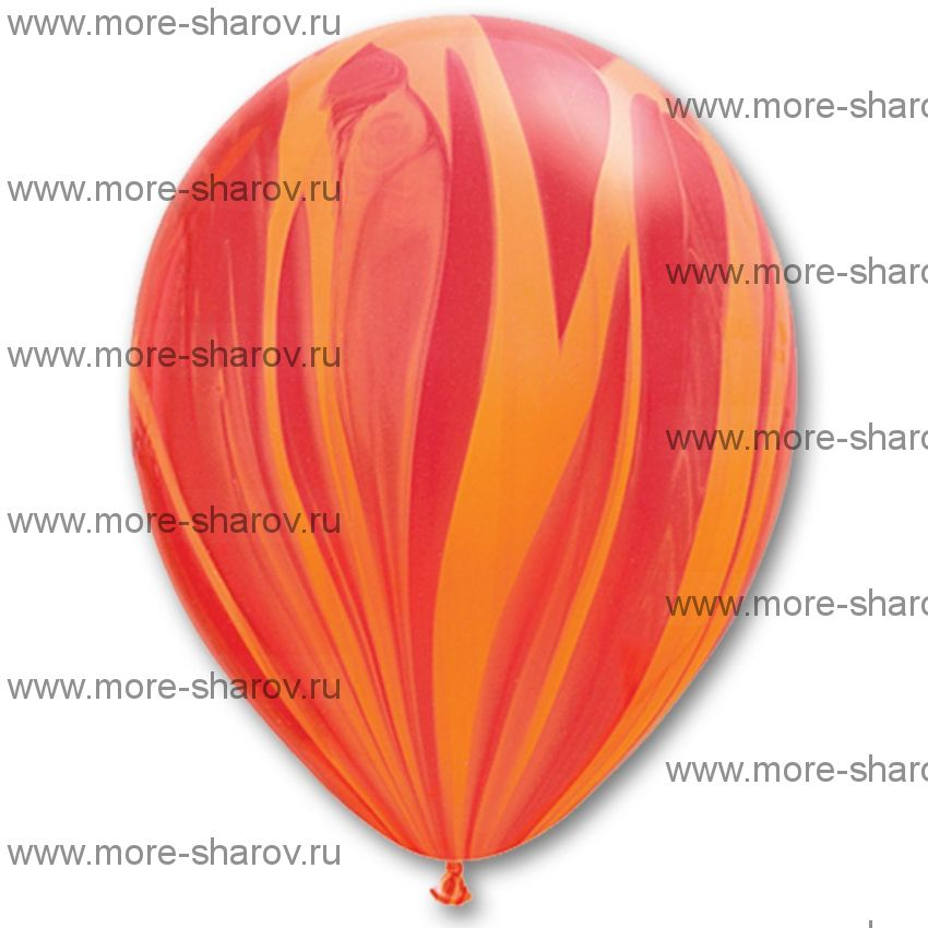 """Шар 11"""" (25см) Агат Red Orange"""