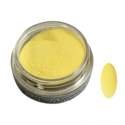 Акриловая пудра цветная №005 (желтая с блестками) SOFIPROFI  2 гр