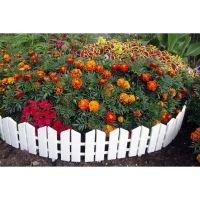 Бордюр Летний сад 16х300 см 7 секций (цвет белый)