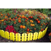 Бордюр Летний сад 16х300 см 7 секций (цвет жёлтый)