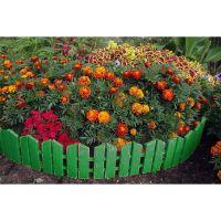Бордюр Летний сад 16х300 см 7 секций (цвет зелёный)