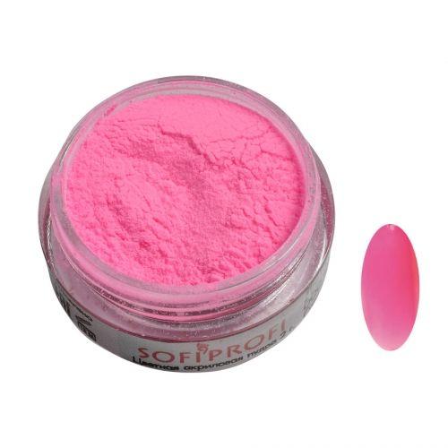 Акриловая пудра цветная №125 (розовый неон) SOFIPROFI  2 гр