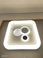 Управляемый светодиодный светильник GEOMETRIA F01 48Вт*2 6/3/4000K пульт 500мм белый Oreol