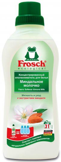 Frosch Концентрированный ополаскиватель для белья Миндальное молочко 0,75 л
