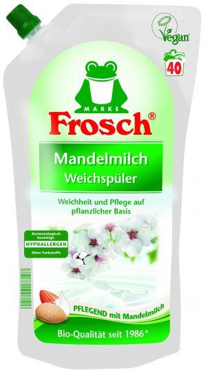 Frosch Концентрированный ополаскиватель для белья Миндальное молочко 1 л