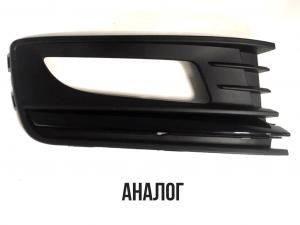 Облицовка ПТФ правая Аналог Черная Volkswagen Polo Sedan