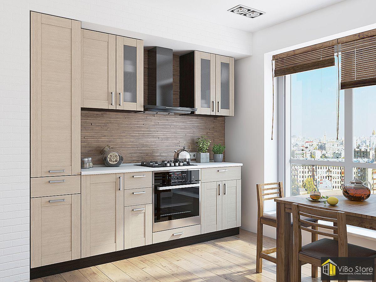 Стильная современная, недорогая кухня в светлых тонах