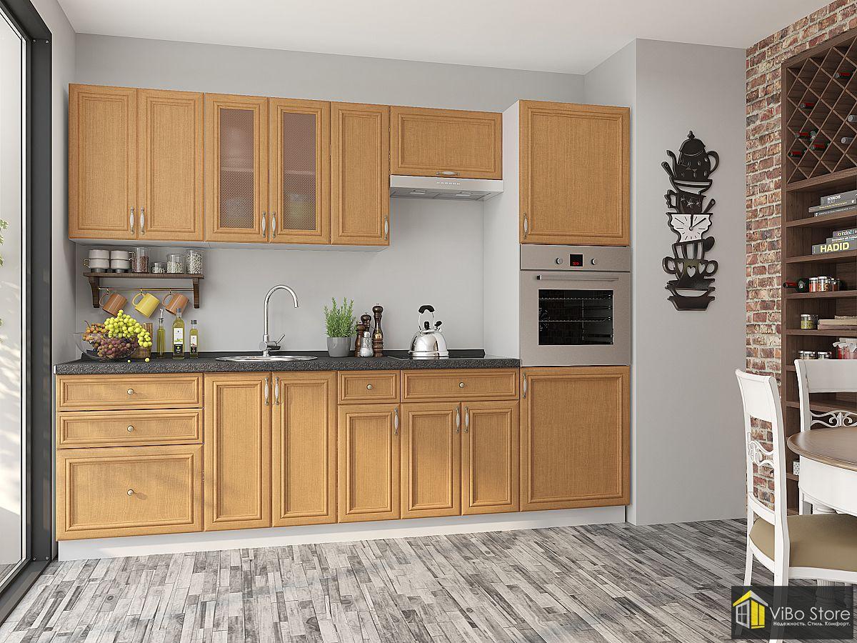 Кухня в светло-коричневых тонах