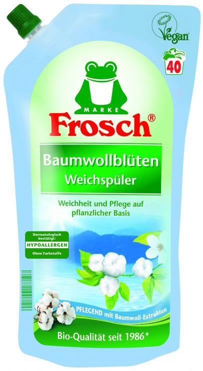 Frosch Концентрированный ополаскиватель для белья Цветы Хлопка 1 л