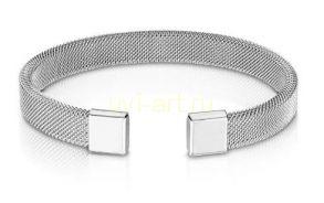 Стильный стальной сетчатый незамкнутый браслет Spikes (арт. 280161)