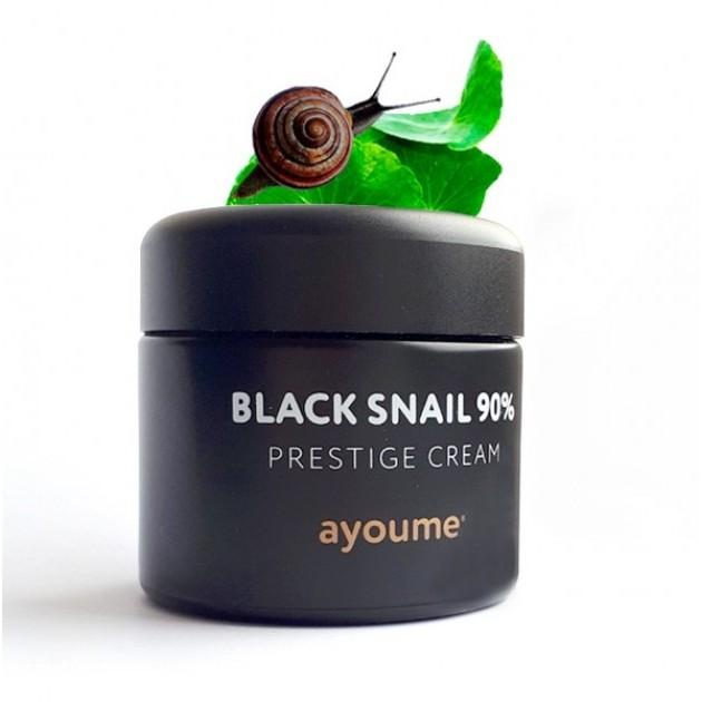 Black Snail Крем для лица муцином черной улитки AYOUME 90%