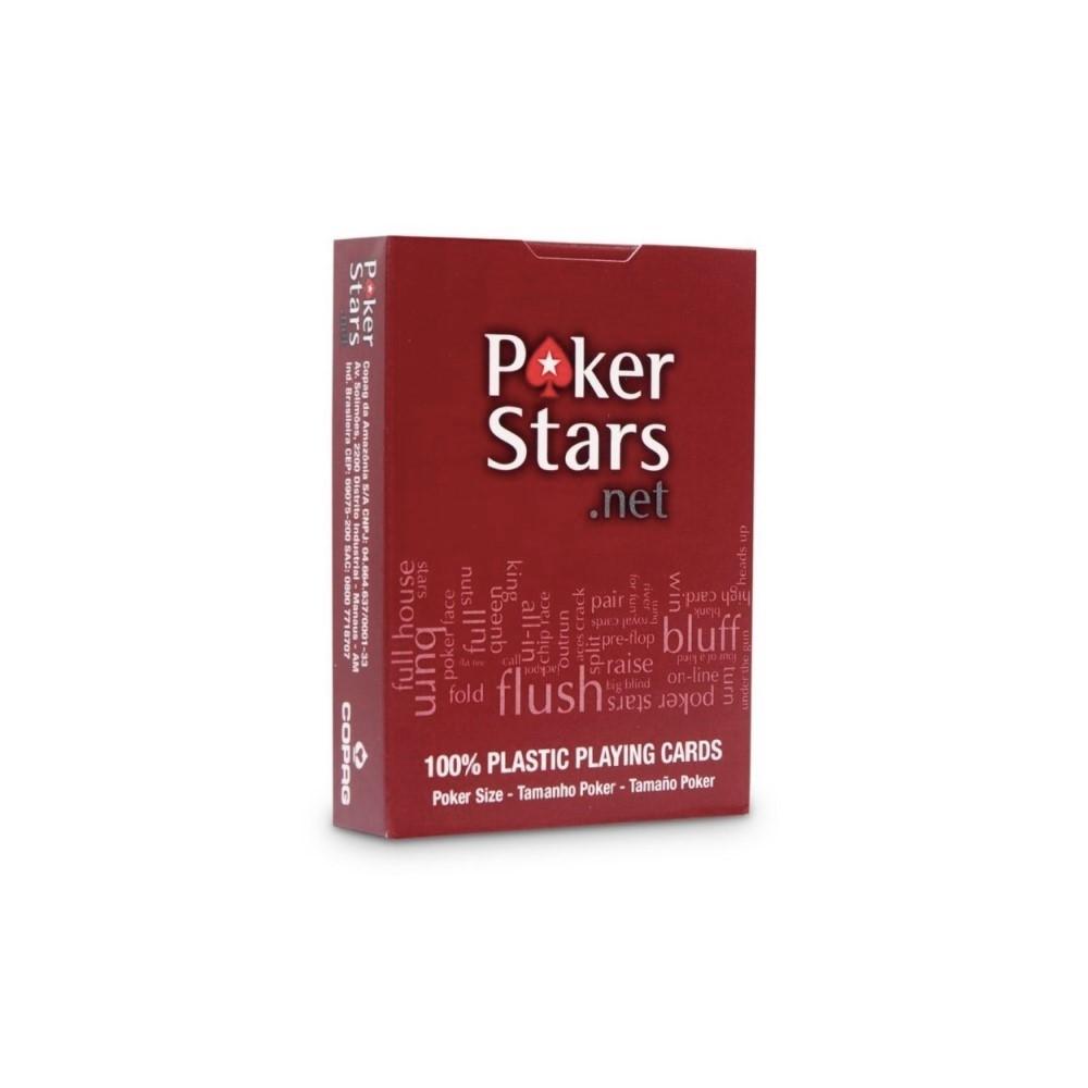 """Карты игральные """"Poker Stars"""" 54 красные (100% пластик)"""