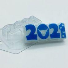 Форма пластиковая 2021 / Бык и следы, арт. 1996