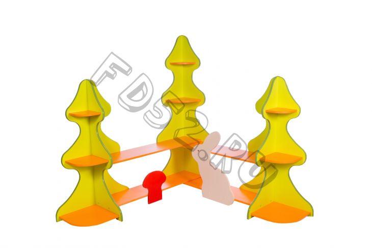 Стеллаж для игрушек и пособий «ЛЕСНАЯ СКАЗКА»1500*1500*1500 мм.
