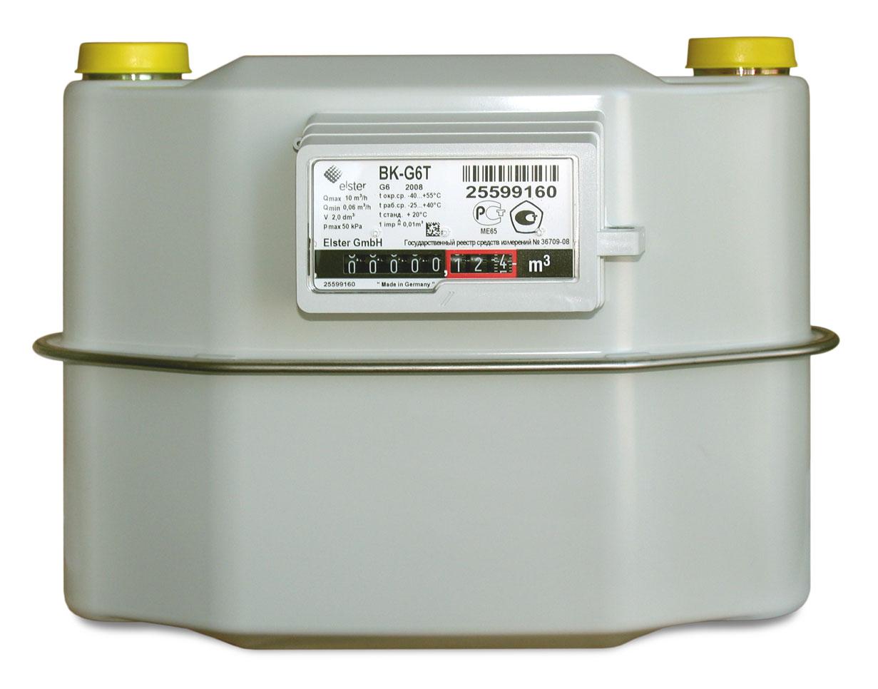 Диафрагмальный газовый счетчик BK G6T