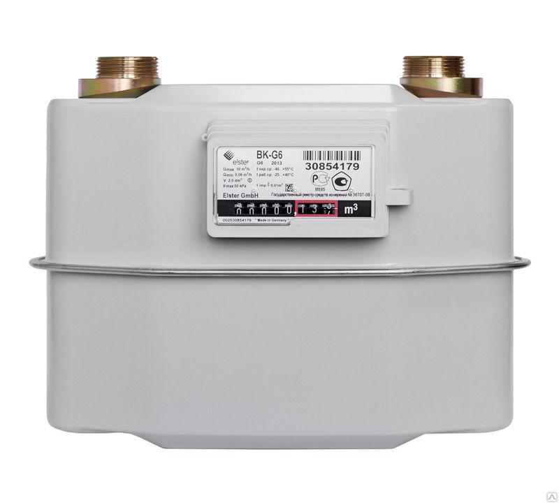 Счетчик газа ВК G6Т левый 200мм