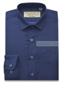 Рубашка для первоклассника 29(116-122) арт. Vichy 3 длинный рукав