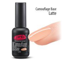 Камуфлирующая каучуковая для гель-лака PNB UV/LED Camouflage Base Latte, 8 мл