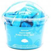 Очищающая пузырьковая маска для кожи лица в индивидуальных упаковках Ayoume Enjoy Mini Bubble Mask Pack