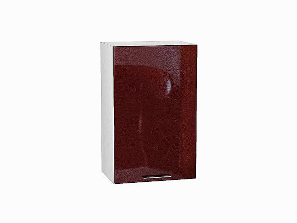 Шкаф верхний Валерия В450 (гранатовый металлик)