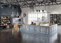 Кухня Милан Джинс остров с полуколоннами