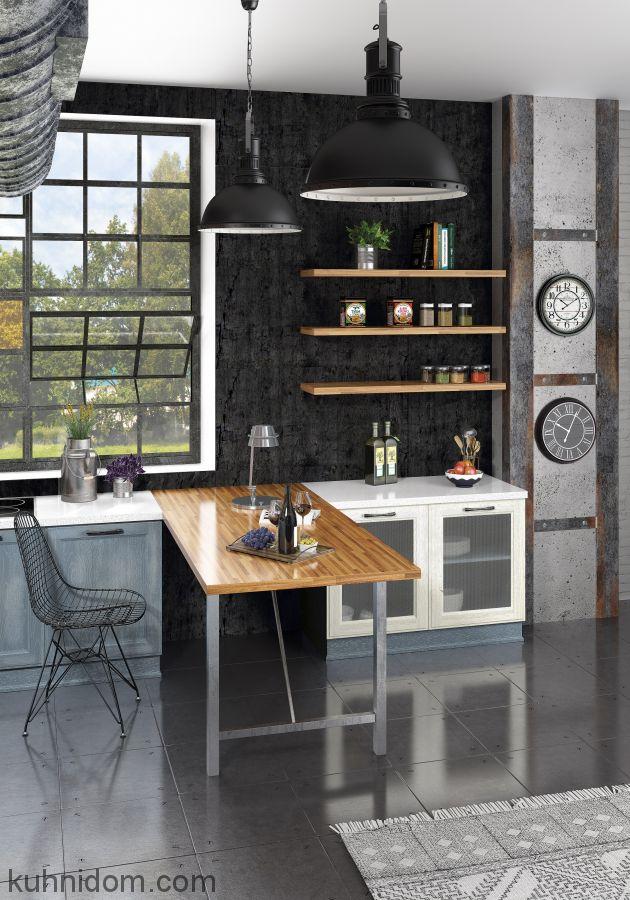 Кухня Милан Джинс со столом