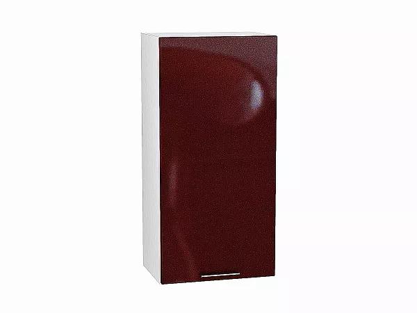 Шкаф верхний Валерия В459 (гранатовый металлик)