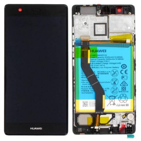 Дисплей в сборе с сенсорным стеклом, корпусом и аккумулятором для Huawei P9 Plus (Original)