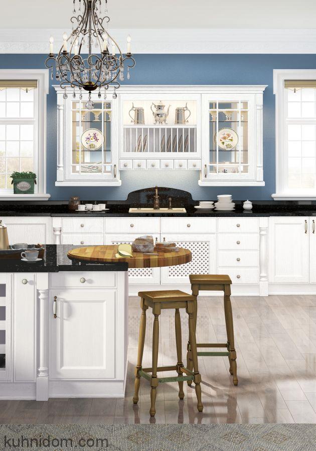 Кухня Милан Бьянко с витринами