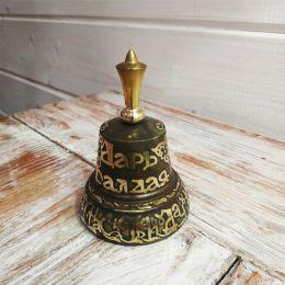 Валдайский колокольчик с гравировкой №6 с металлической ручкой