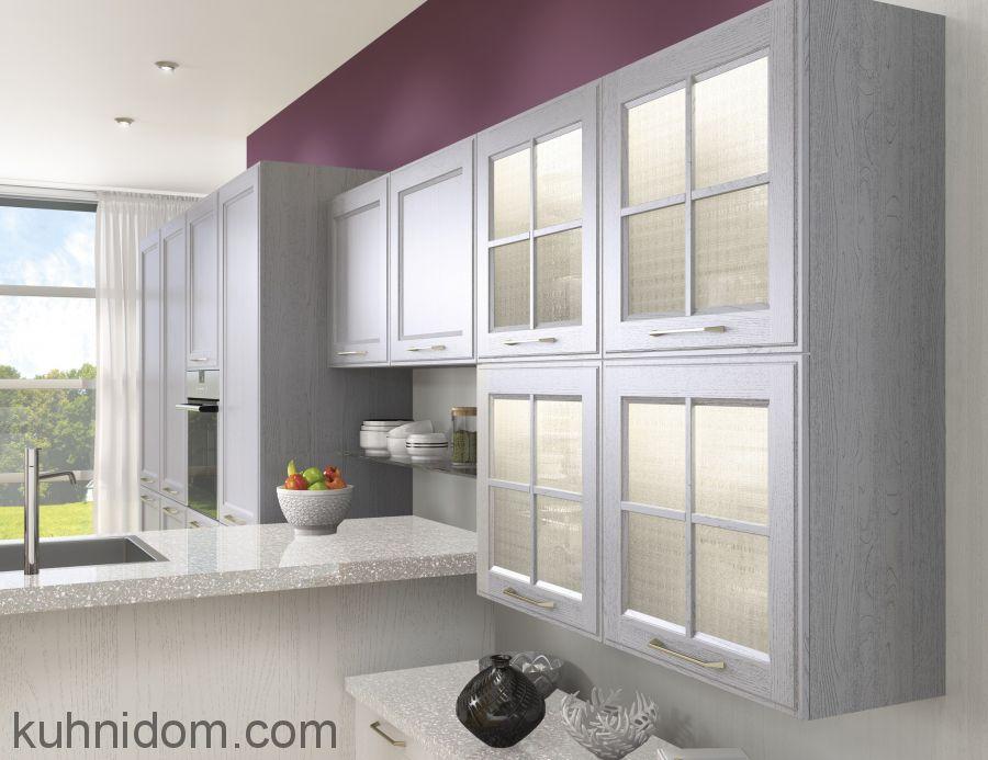 Кухня Милан Гриджио с витринами