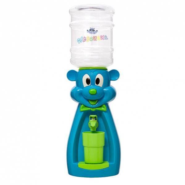 Кулер детский для воды Акваняня Мышка голубая с зеленым