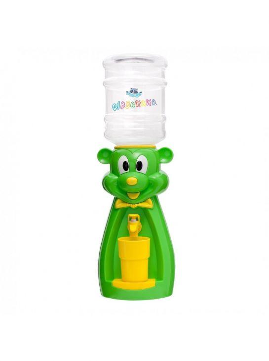 Кулер детский для воды Акваняня Мышка зеленая с желтым